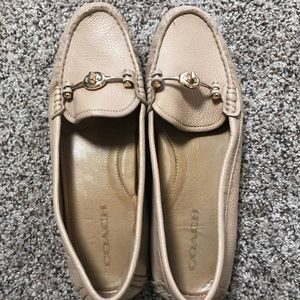 Tan Leather Coach Loafers